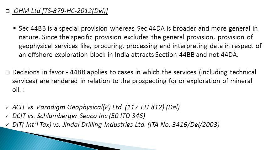 OHM Ltd [TS-879-HC-2012(Del)]